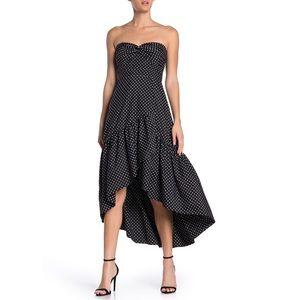 Eliza J Strapless Polka Dot Cocktail Dress Size 10